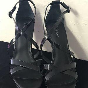 Calvin Klein Shoes - Calvin Klein Black  High Heel Sandal with 4.5